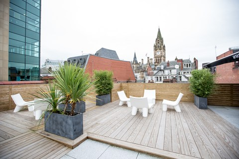 Roof terrace at Sugar PR