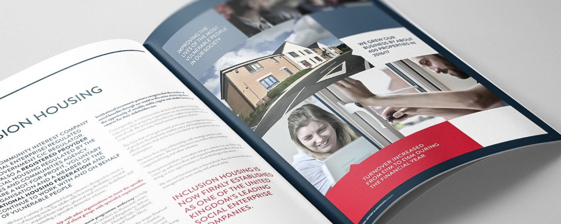Annual Report Design for Inclusion Housing