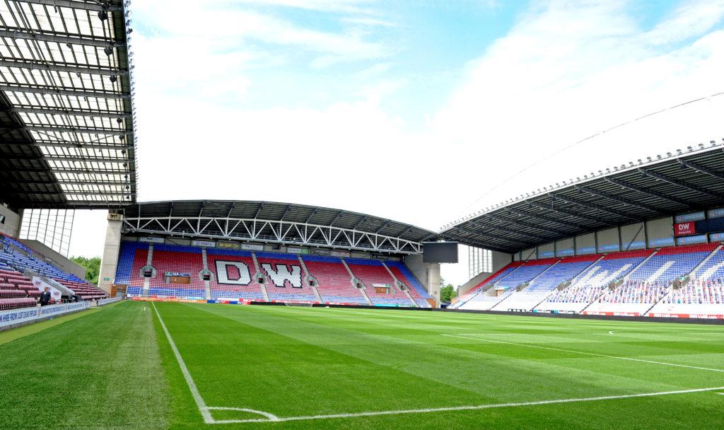 The DW Stadium in Wigan.